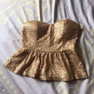 Forever21 Sequined Tube Top