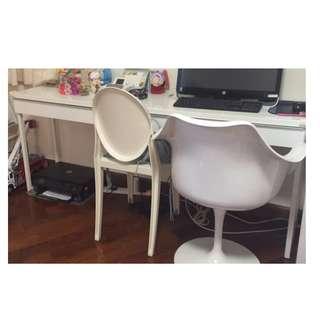 IKEA Study Desk 白色亮面漆書台