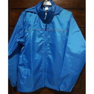 Quechua Rain-Cut Zip Men's Hiking Waterproof Rain Jacket - French Blue
