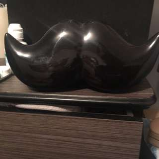 Black Moustache Piggy Bank