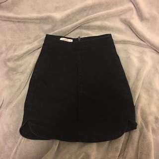 supre black denim skirt