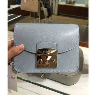Authentic Furla Sky Blue Metropolis