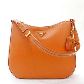 Authentic Prada Saffiano Lux Medium Shoulder Bag