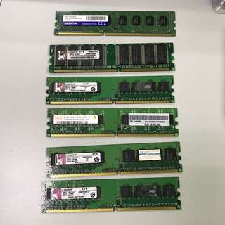 512MB, 1G,DDR2,DDR3 RAM For PC (used)