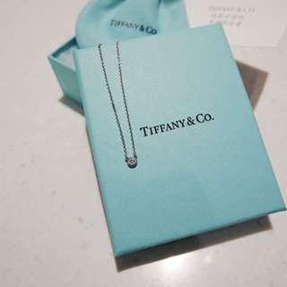 Tiffany & co. 純銀 0.03克拉 鑽石項鍊 鎖骨鏈 Cartier Hermes