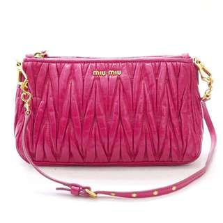 Authentic Miu Miu Small Clutch Bag In Fuchsia