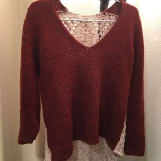 Zara Knit Fuzzy Sweater