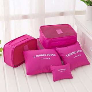 6 in 1 Travel Luggage Organizer Set (Plain colors)