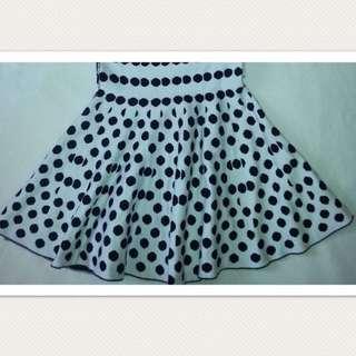 A-line Polka Dot Skirt ( Reversible )