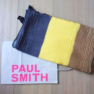 Paul smith 100%cotton made in Italy 3色撞色 圍巾
