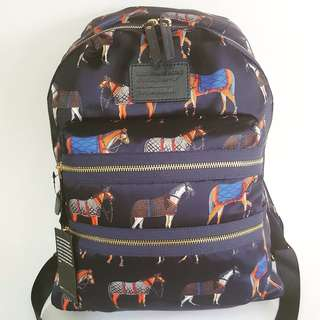 Marc by Marc Jacobs Horse Printed Biker Backpack (Normandy Blue)