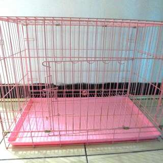 狗籠 兔籠 籠子 寵物籠 粉紅