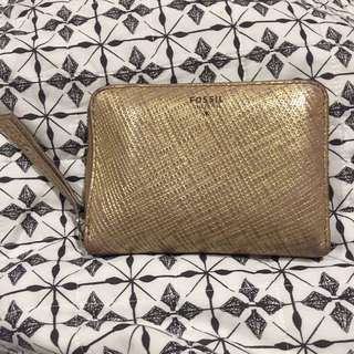 REDUCED ✔️Fossil Gold Leather Wallet