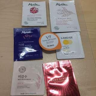 Sample Pack Of Melvita/ The Face Shop/ Laneige