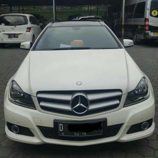 Mercedes Benz C180 Coupe Limited edition Tahun 2013 Putih