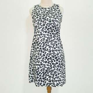 Preloved Black & White Leopard Dress