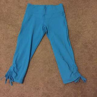 Lorna Jane Bright Blue Cropped Leggings