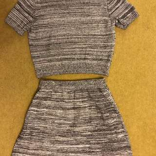 American Apparel Two Piece Set Size 8-10