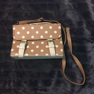 Brownish Polka Dot Bag