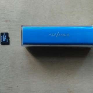 Power bank dan Micro sd