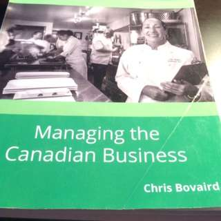 Managing The Canadian Business