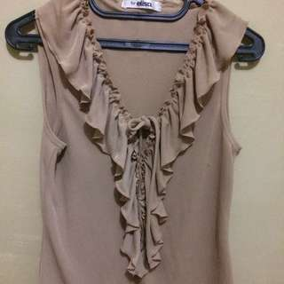 Simply Brown Blouse-All Size
