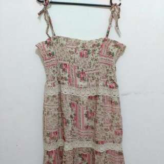 Summer long dress pink