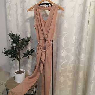 Dream House (size 6)- Beige Long Leg Romper