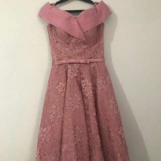 Pink Gown Flowery