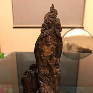 印尼安汶沉香觀音雕刻品