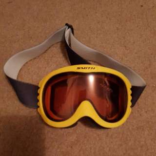 Womens, Smith, Snowboarding Goggles, Yellow