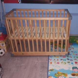 Baby 3-in-1 Cot/Bed/Playpen (ALMOST NEW!)