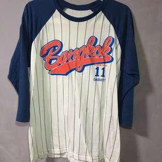 baseball stripes tshirt top