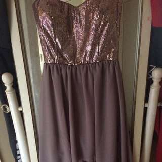 High Low Sparkly Dress