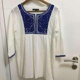 Dress Embroid White