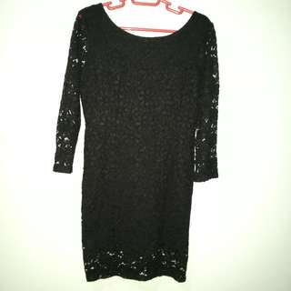 Lace Dress Scoop Back