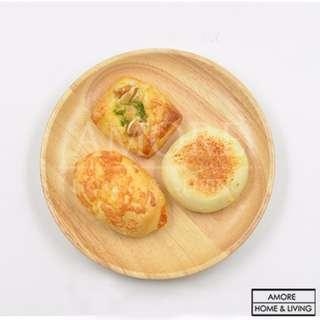 Wooden Round Plate 15cm Kitchenware