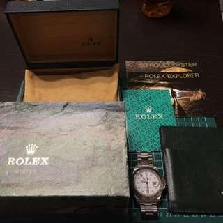 Rolex Explorer II 16570 白面 K頭 有盒
