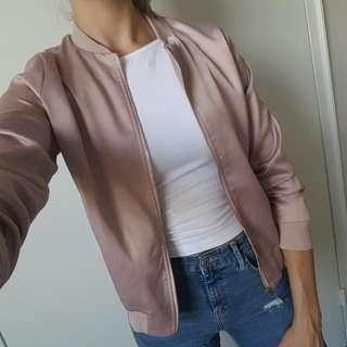Dusty Pink Satin Jacket