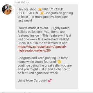 1ST HIGHLY RATED SELLER ! THANK YOU ♡
