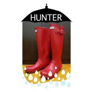 Hunter 經典紅色長靴