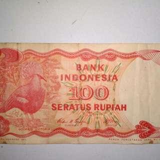 Uang Pecahan Kertas 100 Rupiah