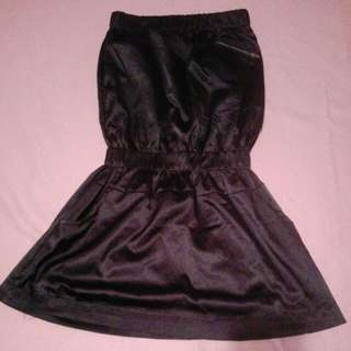 dark blue silk dress