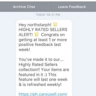 HIGHLY RATED SELLER ✨