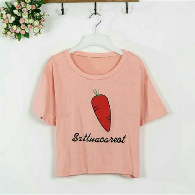 (現貨)可愛短版紅蘿蔔上衣