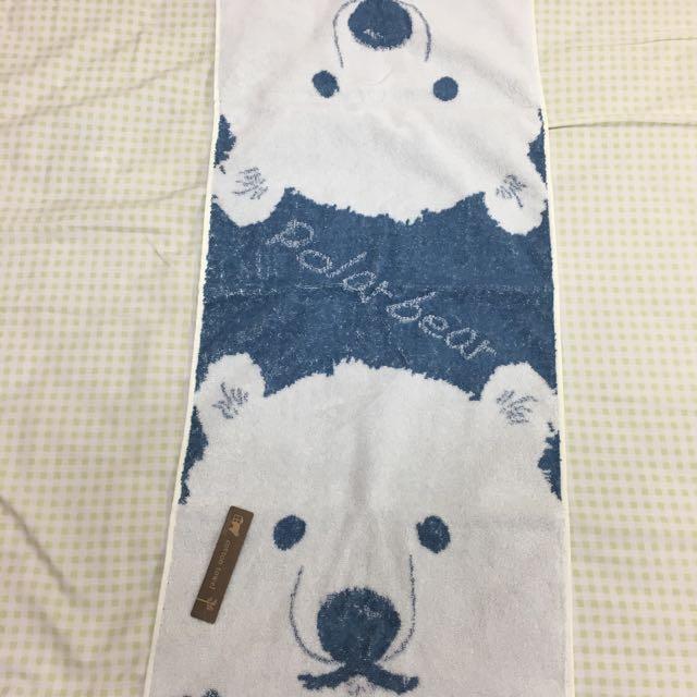 日本購入-可愛北極熊棉質長毛巾