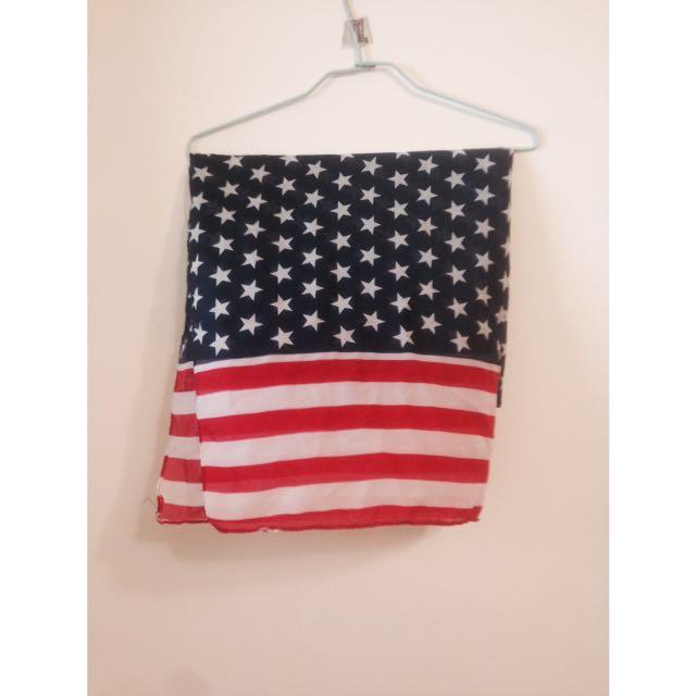 美國國旗絲巾