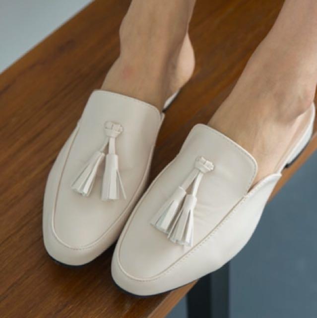 簡約流蘇拖鞋