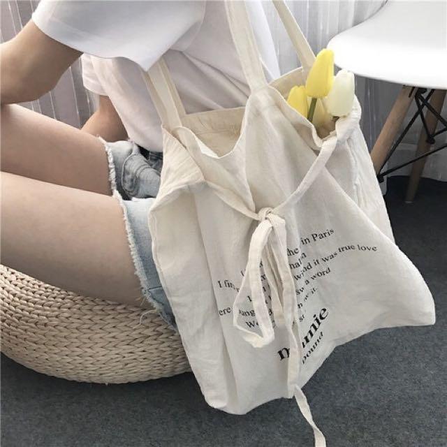 文青英文字母帆布包