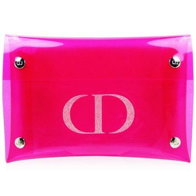 迪奧 果凍桃紅透明包